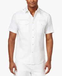 Sean John Men's Lightweight Shirt Only At Macy's Bright White