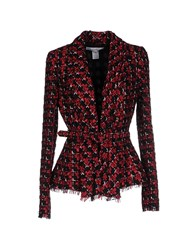 Oscar De La Renta Suits And Jackets Blazers Women Maroon