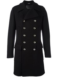 Dolce And Gabbana Military Style Coat Black