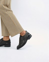 Love Moschino Lace Up Flat Brogues Black