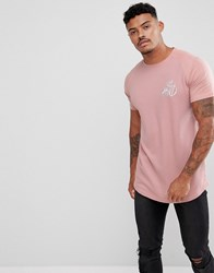 Kings Will Dream Muscle T Shirt In Pink With Contrast Raglan Sleeves