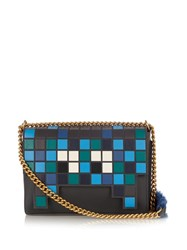 Anya Hindmarch Space Invaders Ephson Leather Bag Grey Multi