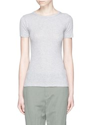 Vince Pima Cotton T Shirt Grey