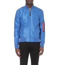 Alpha Bomber Jacket Light Blue
