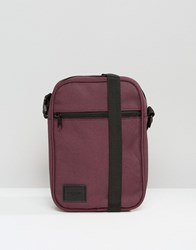 Asos Flight Bag In Burgundy With Patch Burgundy Red