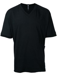 Factotum V Neck T Shirt Men Cotton 46 Black