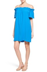 Pleione Women's Off The Shoulder Dress Blue Boat