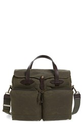 Filson '24 Hour' Tin Cloth Briefcase Green