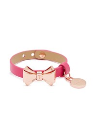 Ted Baker Lillian Leather Bow Bracelet Pink
