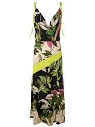 Christian Siriano Hawaiian Print Fitted Dress Multicolour