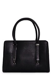 Boohoo Stitch Detail Structured Day Bag Black