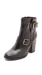 Kurt Geiger Aubrey Short Buckle Booties Black