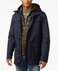 Tommy Hilfiger Men's Two In One Jacket Midnight Rosin