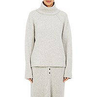 Regulation Yohji Yamamoto Women's Oversized Turtleneck Sweater Grey Light Grey Grey Light Grey