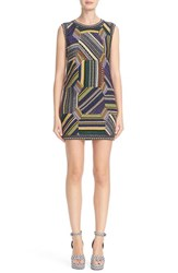 Missoni Women's Metallic Knit Patchwork Shift Dress