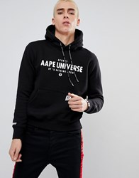 30b97e208b5 Aape By A Bathing Ape Hoodie With Front Universe Logo Black