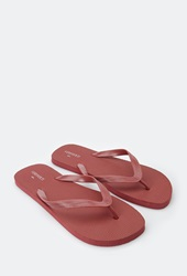 Forever 21 Classic Flip Flops Red