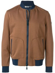 Manuel Ritz Classic Bomber Jacket Brown