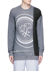 3.1 Phillip Lim Gingko Medallion Embroidery Sweatshirt Blue