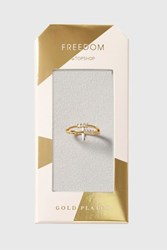 Topshop Gold Plated Cubic Zirconia Clear