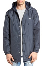 Obey Men's Singford Hooded Parka Dusty Navy