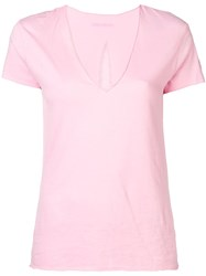 Zadig And Voltaire Mesh Detail T Shirt Pink