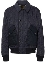 Burberry Diamond Quilted Thermoregulated Jacket Blue