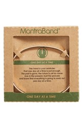Mantraband Women's One Day At A Time Cuff Rose Gold