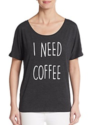 Crooked Monkey I Need Coffee Graphic Tee Black