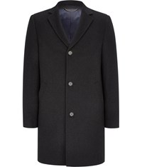 Austin Reed Charcoal Short Wool Coat