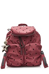 See By Chloe Printed Fabric Backpack Red