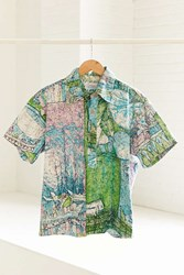 Urban Renewal Vintage 90S Tropical Print Short Sleeve Popover Shirt Assorted