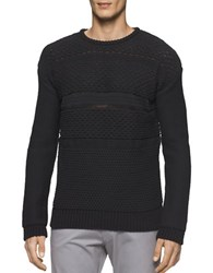 Calvin Klein Cable Knit Sweater Black