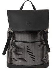 Fendi Striped Canvas And Leather Backpack