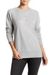 Obey Day Of The Dead Crew Embroidered Sweater Gray