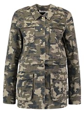 Noisy May Nmdouble Summer Jacket Ivy Green Camo Dark Green