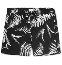Onia Charles Short Length Printed Swim Shorts Black