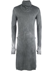 Lost And Found Ria Dunn Longline Turtleneck Jumper Grey