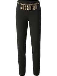 Moschino Logo Chain Trousers Black