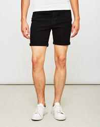 Only And Sons Loom Denim Shorts Black