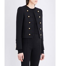 Belstaff Liv Tyler Laure Wool Blend Military Jacket Black