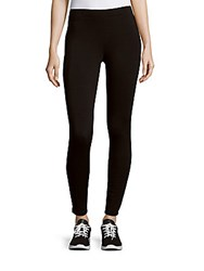 Saks Fifth Avenue Solid Ankle Length Leggings Black