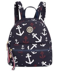 Tommy Hilfiger Anchor Small Dome Backpack Navy White