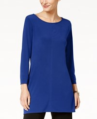 Alfani Scoop Neck Tunic Created For Macy's Modern Blue