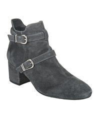 Phase Eight Sanita Buckle Ankle Boots Charcoal
