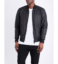 Diesel L Powell Leather Bomber Jacket Black