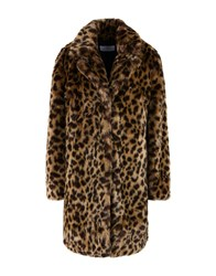 Jolie By Edward Spiers Coats And Jackets Faux Furs Sand