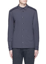 Isaora Snap Button Front Padded Shirt Grey