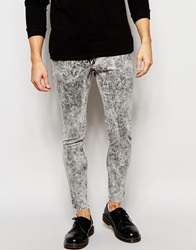 Cheap Monday Jeans Low Spray On Super Skinny Fit Black Ice Blackice
