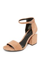 Alexander Wang Abby Sandals Clay Rhodium
